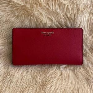 Kate Spade wallet ♠️ red slim bifold